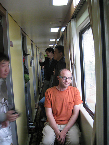 Opposite of a very long walk, on a train to Tibet