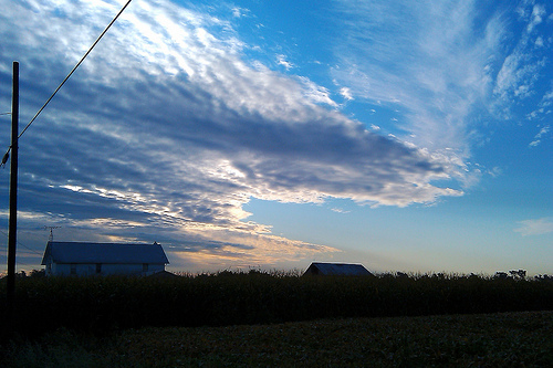 Sky, field, farm - it never gets old